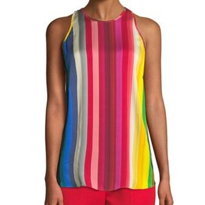 Milly Rainbow Print Marie Top (Size 10)
